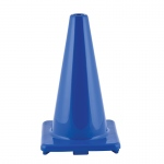 Flexible Vinyl Cone 18in Blue Weighted