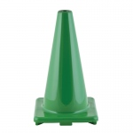 Flexible Vinyl Cone 18in Green Weighted