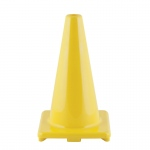 Flexible Vinyl Cone 18in Yellow Weighted