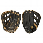 11in Pe Glove Adj Black