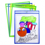 Dry Erase Pockets 10 Asst Colors St