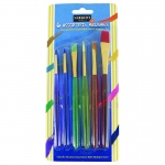 6ct Childrens Asst Taklon Brushes