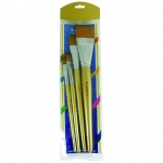 4ct Jumbo Flat Taklon Brushes
