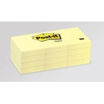 3M Highland Notes: Yellow, 1 1/2 x 2