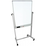 "Luxor 30""W x 40""H Double-Sided Magnetic Whiteboard"