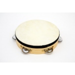 "7"" Tambourine RBI Wood Tambourine with - 5 (pr) Jingles."