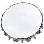 "10"" Tambourine - 9 Jingles and Tuneable"