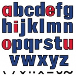 Lower Case Letters Flannelboard Set