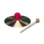 "Large Knob 7"" Brass Cymbal with mallet"