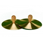"7"" Solid Brass Cymbals with Knobs (pr)"
