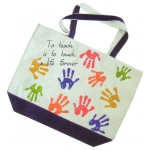 Get Ready Kids Tote Bag: To Teach Is To Touch A Life Forever