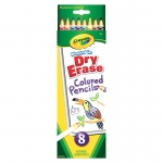 Crayola Dry Erase Washable Colored Pencils 8pk