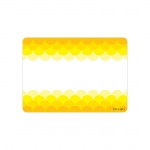 Ombre Yellow Scallops Labels Paint