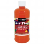 Orange Art-Time Washable Paint 16oz