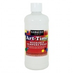 White Art-Time Washable Paint 16 Oz
