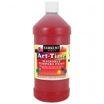 Red Art-Time Washable Paint 32 Oz