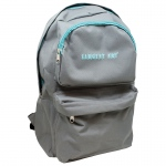 Economy Backpack Gray/teal Zipper