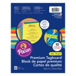 Premium Tagboard Assrtmnt 8.5x11in Brights Assrtd 10 Colors 50 Sheets