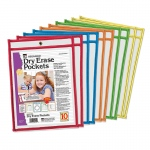 Reusable Dry Erase Pockets 10 Set