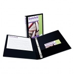 1/2in Capacity Black View Binder
