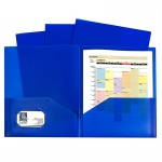 Blue Two Pocket Poly Portfolios Without Prongs Pack Of 10