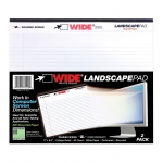 Legal Pad Landscape White 2 Pack