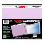Legal Pad Landscape Assorted 3 Pack Orchid Blue And Pink