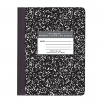 Marble Composition Book Black