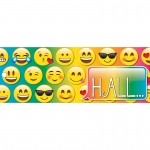 Laminated Emoji Hall Pass