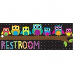 Laminated Owls Restroom Pass
