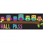 Laminated Owls Hall Pass