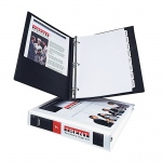 1in Capacity Black View Binder