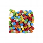 16mm Blank Color Foam Dice 200 Ct Assorted