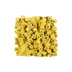 5/8in Yellow Foam Dice W/ Spots/num