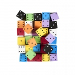 Asst 2in Foam Spot Dice Bag Of 36