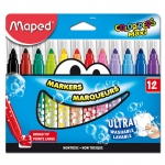 Broad Tip Markers 12 Color Set Ultra Washable