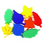Leaf Shape Sponges Asst Of 8 Dip Print