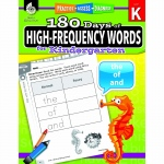 180 Day High Freq Words Gr K Workbk