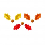 Oak Leaves Acorns Class Variety Pk Accents Decoartions
