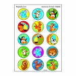 Awesome Animal Stinky Sticker Large Round