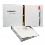 1 1/2in Capacity White View Binder