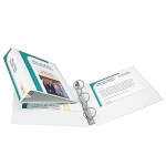2in Capacity White View Binder