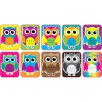 Color Owls Mini Whiteboard Erasers Non Magnetic