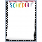 Bold Bright Schedule Chart