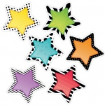 10in Bold Bright Stars Cutout Designer
