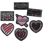 6in Chalk Hearts Designer Cut Outs
