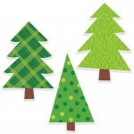 Patterned Pine Trees Bulletin Board