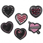 3in Chalk Hearts Designer Cut Outs