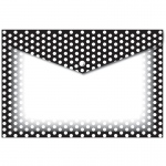 Decorated Poly Folder Bw Dots