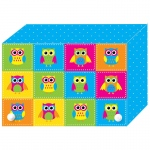 Color Owls Index Card Boxes 4x6in Decorated Poly